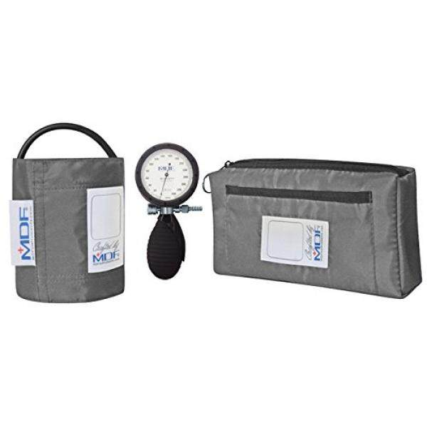 MDF Instruments MDF Bravata Palm Aneroid Sphygmomanometer - Blood Pressure Monitor with Adult & Pediatric Sized Cuffs Included - Grey - Full Lifetime Warranty & Free-Parts-For-Life (MDF848XPD-12) - intl