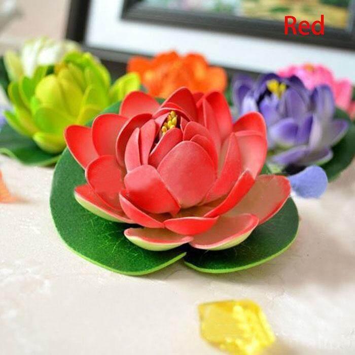 ... Toprank Plastik Bunga Teratai Artifisial Air Tanaman Lily Bunga  Mengambang Rumah Hiasan Kolam-Intl - 80dbc6dcf5