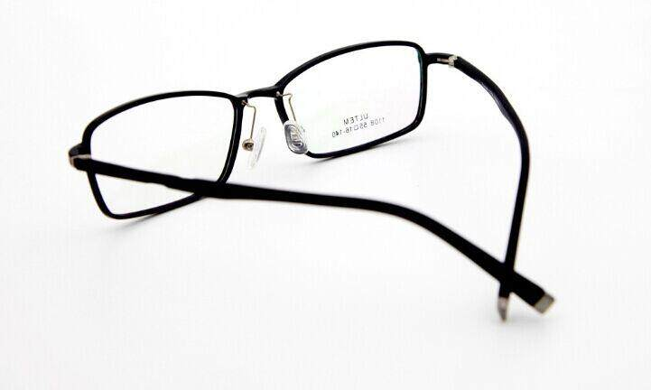 ... LUDA Alloy Eyeglasses Big Frame Tr90 Eyewear Retro Spectacle Glasses For Men (Black) -