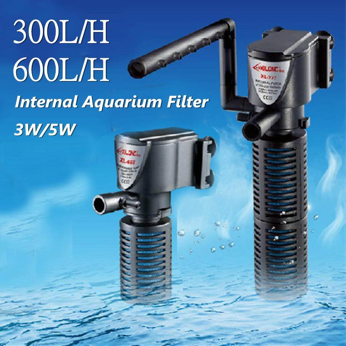 Small Aquarium Internal Filter Fish Tank Oxygen Submersible Pump Spray 3 in 1 mini turtle ultra-silence # 5W With Rain Spray