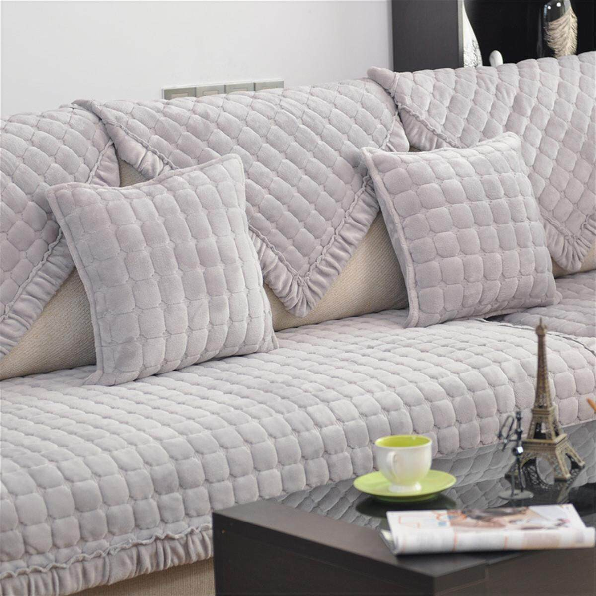 Easy Stretch Fit Couch Sofa Cover Lounge Flannel Plush Home Seaters Slipcover # 110x160cm