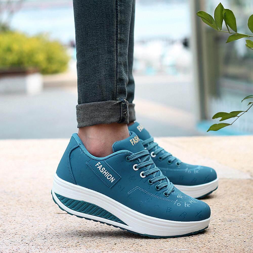 8878494c035 Women Casual Leisure Sport Fashion Walking Flats Height Increasing Swing  Wedges Shoe