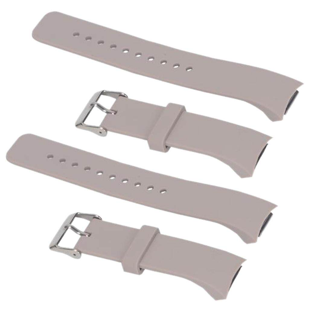 BolehDeals 2x Sport Armband Wristband Watchband Strap for Samsung Gear S2 Khaki