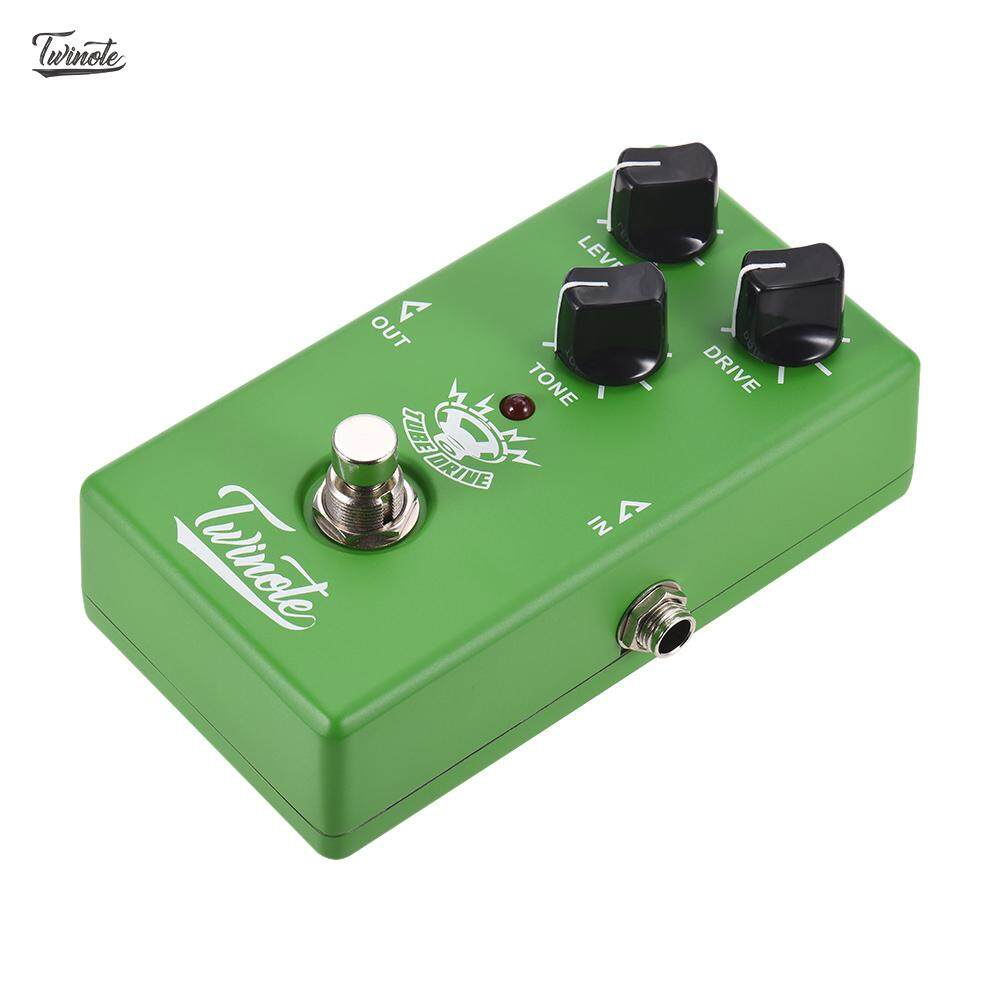 Twinote TUBE DRIVE Analog Overdrive Guitar Effect Pedal Processsor Full Metal Shell with True Bypass