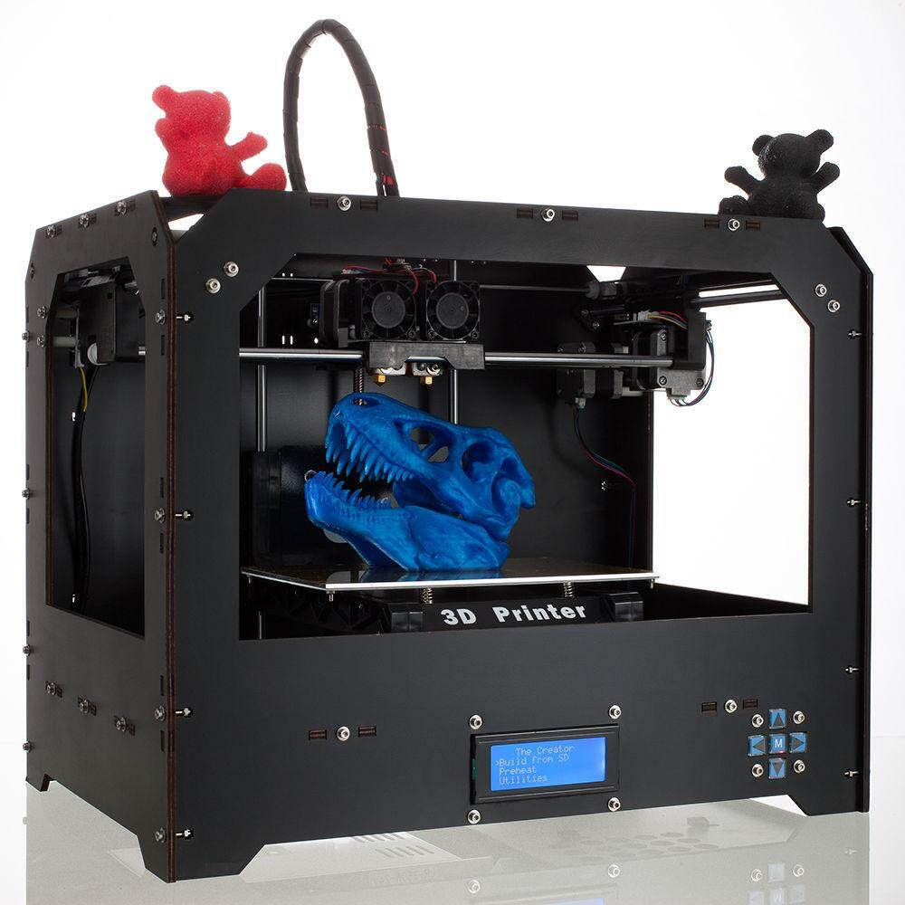 Factory FDM - Black Makerbot Replicator 3D-Printer 2 Extruders NEW