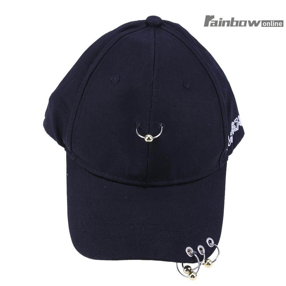 Men Women Hat Iron Ring Hip Hop Curved Strapback Baseball Cap Hat - intl d09edaad140