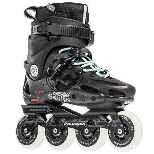Sepatu Roda Twister 80 2017 Urban Twincam Ilq 7 Plus Bantalan Sepatu Roda, Hitam/Biru Muda, kami Wanita 8-Intl