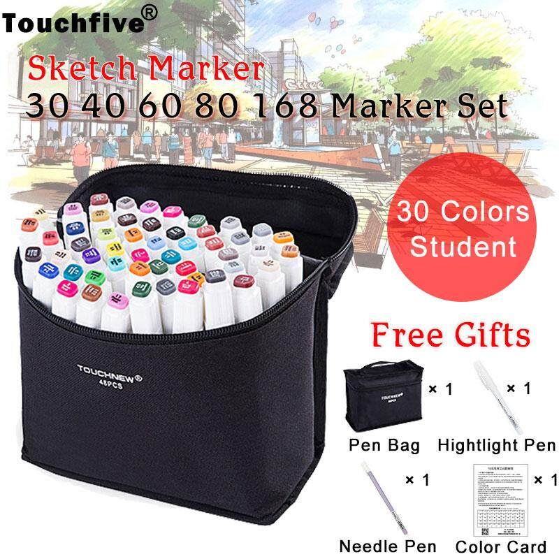 Touchfive Marker 30/40/60/80/168 Colors Art Marker Set Dual Head Sketch Markers Brush Pen For Draw Manga Animation Fashion Student Design Art Supplies By Wow Shop Style.