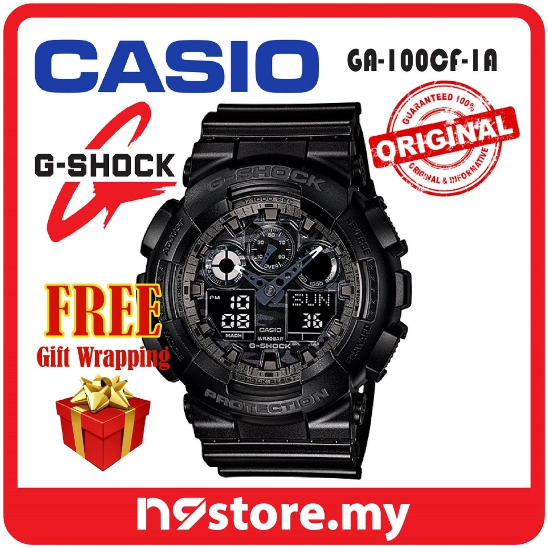 Casio G-Shock GA-100CF-1A Analog Digital Sports Watch