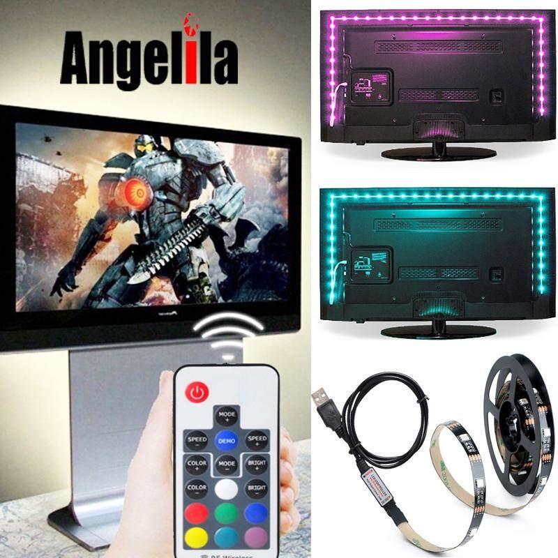 Angelila Lampu Belakang TV RGB Tali LED 5050 Tahan Air 1 M 2 M 3 M 4 M 5 V USB LED Tali Pita pencahayaan Bias untuk HDTV Layar Desktop Layar LCD Komputer ...