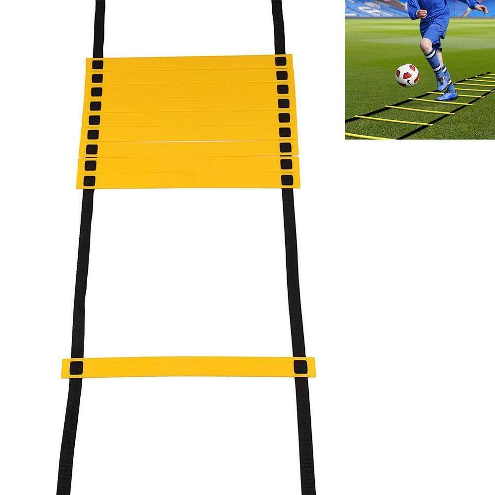 10/12 ส่วนกีฬากลางแจ้งตอบสนองความเร็วสูง Agile บันไดซ้อมฟุตบอล 6 เมตร.