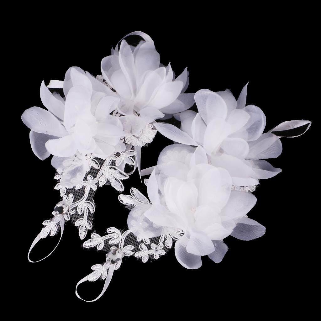 ... BolehDeals Elegant Wedding Short Fingerless Fabulous Lace Flower Gloves Rhinestone Evening Party Women