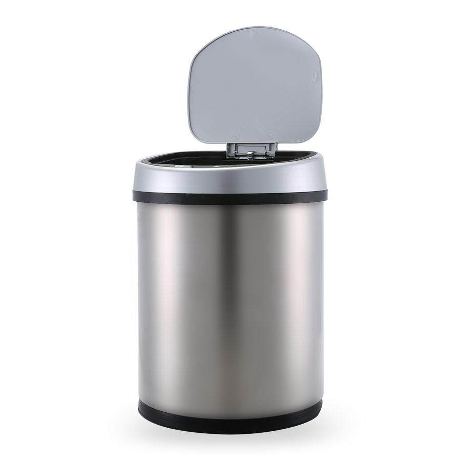 Automatic Motion Sensor Touchless Trash Can Usb Charging Durable Stainless Steel Waste Bin 10l