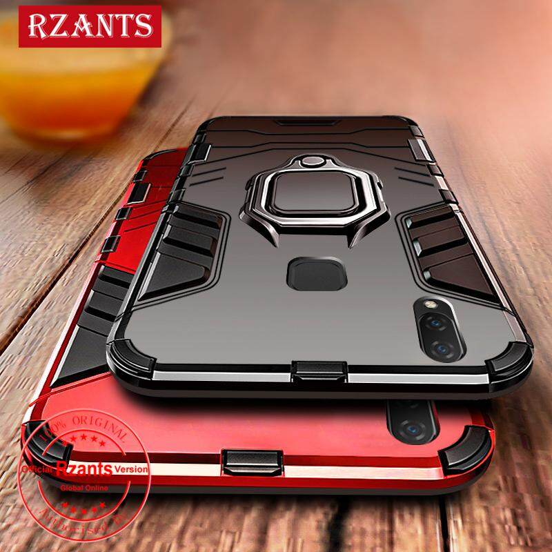 Rzants untuk VIVO V9 Hard Case [Armor Ring] Shockproof Phone Casing with Stand Holder Armor Hybrid PC+TPU 2 In 1 Protection
