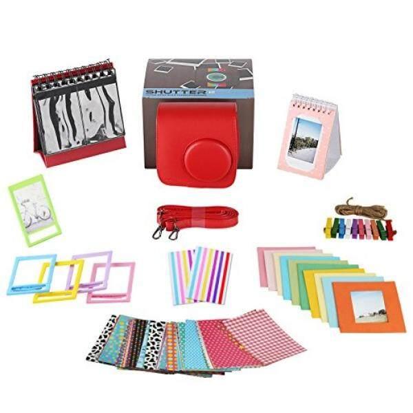 Polaroid Accessories. Polaroid Camera PIC-300 Instant Film Bundle, 9 PC Kit Includes: Polaroid Case + Strap + Photo Album + Standing Album + Wall Hanging Frames + 60 Stickers + 5 Frames, + Gift Box. - intl