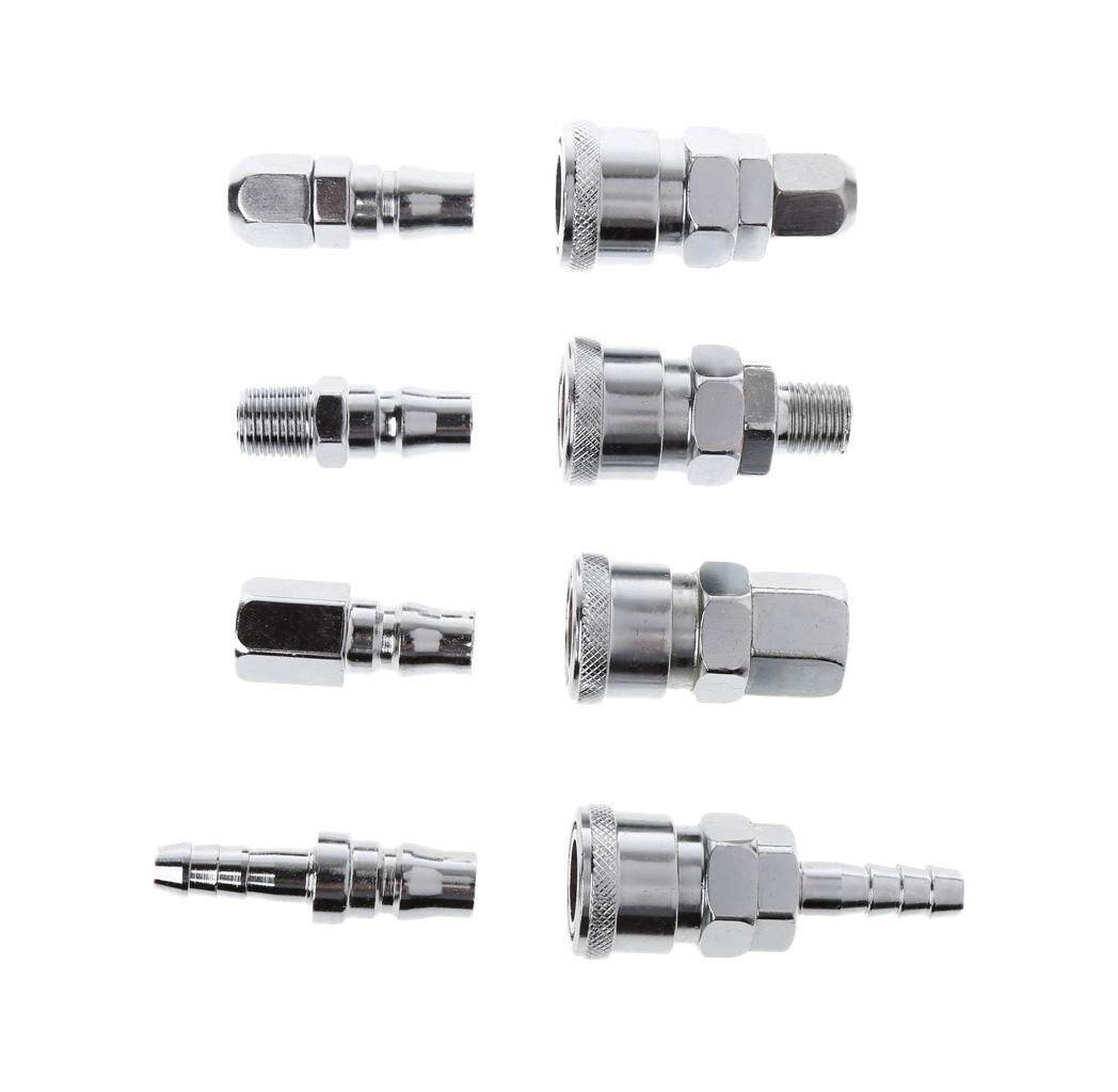 8 Pcs 1/4 Pneumatic Air Compressor Hose Quick Coupler Plug Socket Connector Set - intl Philippines