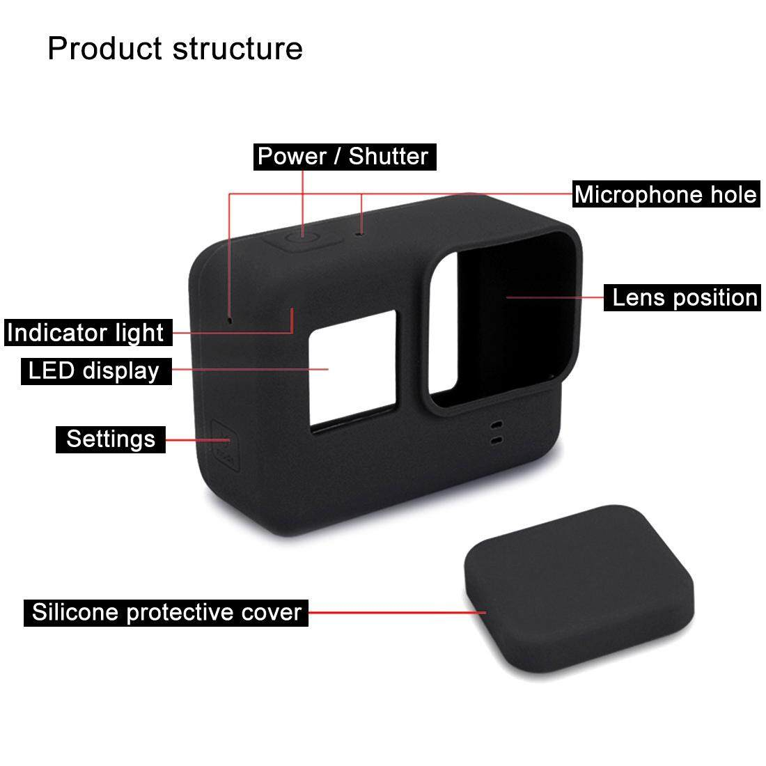 Kelebihan For Gopro Hero6 5 Silicone Protective Case With Lens Cover Hero Black Frame 6 Hitam Coverblack Intl