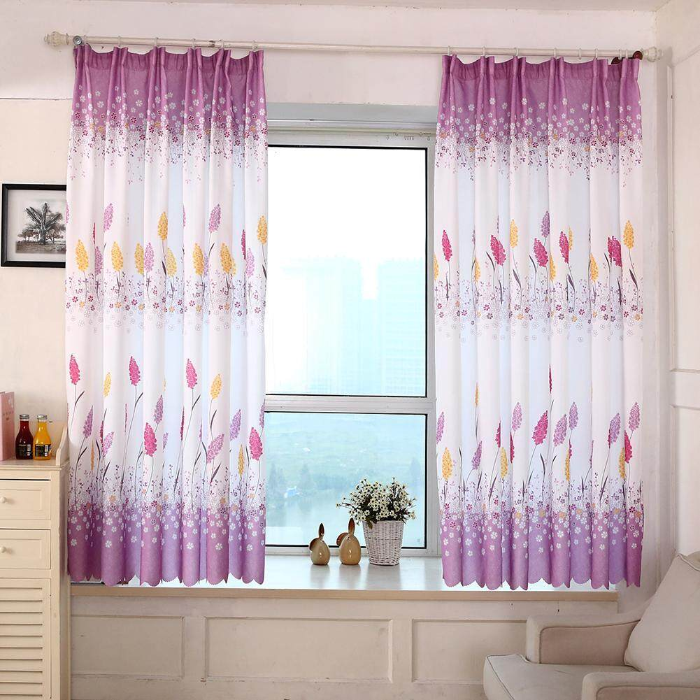 Feather Printed Sitting Room Bedroom Curtains Home Decor 2 X 1 m/78.74X39.37in - intl