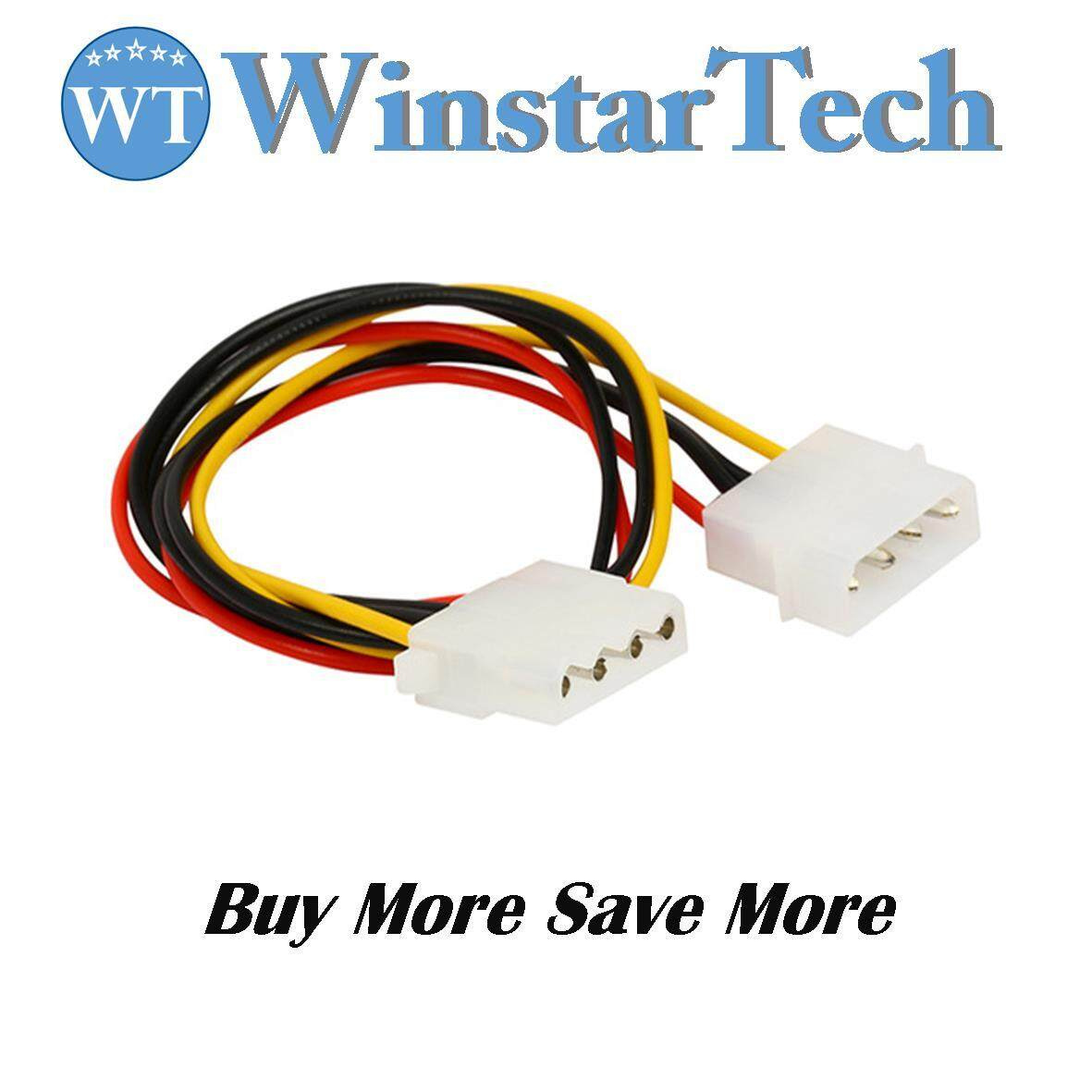 Features 2pcs 4pin Ide Molex To 4 Port 3pin Cooling Fan And Power Cables Large Male Female Extension Cable For Pc