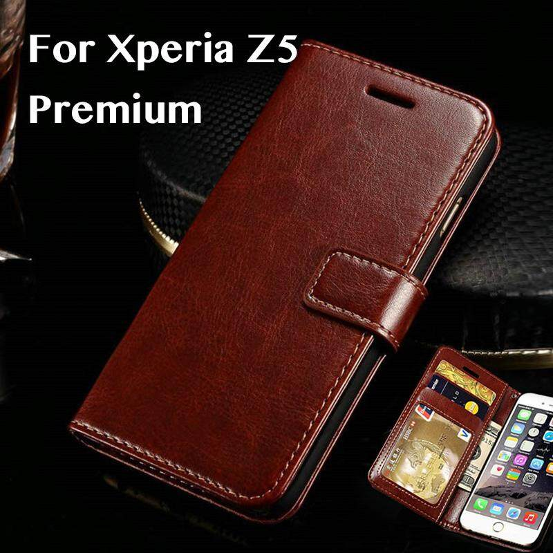 For Sony Xperia Z5 Premium Case Cover For Sony Xperia Z5 Premium Business Case For Sony Xperia Z5 Plus Luxury Vintage Pu Leather Leather Cover.