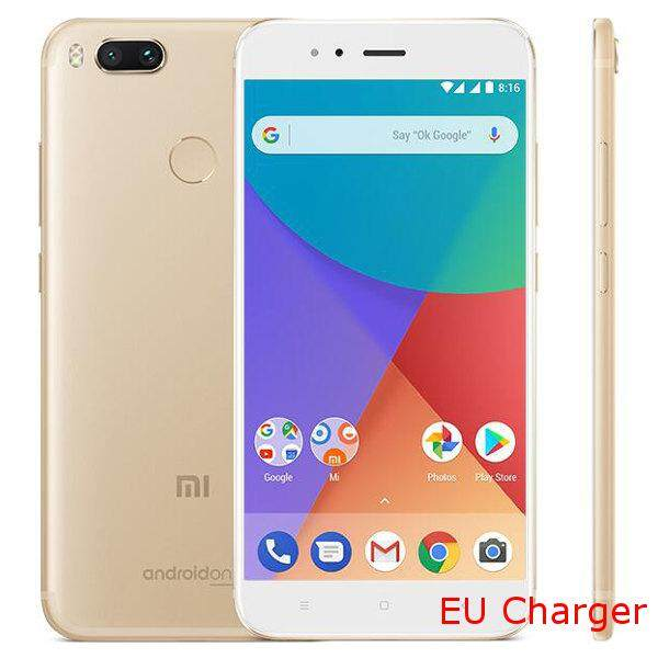 Xiaomi Mi A1 MiA1 Global Version 5.5 inch 4GB RAM 64GB Snapdragon 625 Octa core 4G Smartphone Gold EU plug