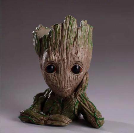 DROP Shipping Baby Groot Pot Bunga Penanam Bunga Pot Boneka Tokoh Wali Mainan Galaxy Manusia Pohon