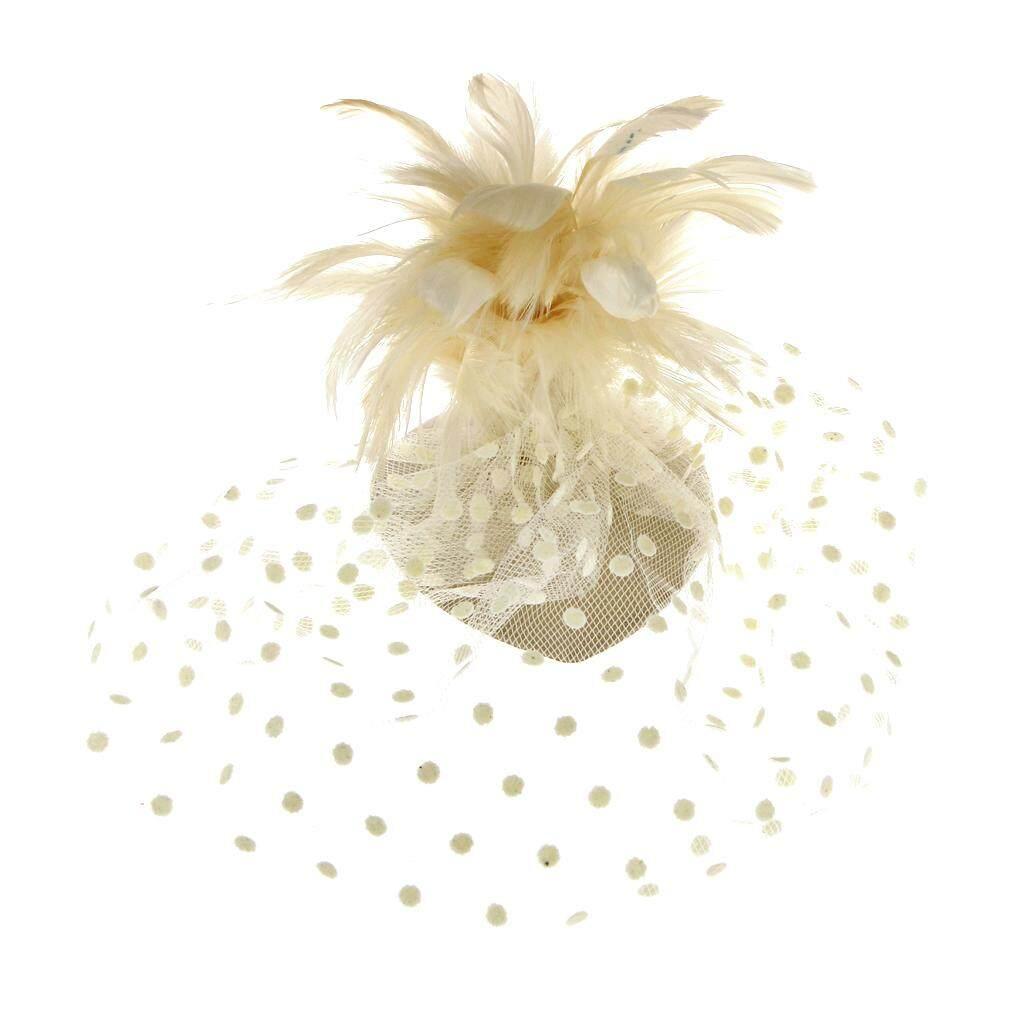 Detail Gambar Magideal Prom Pernikahan Pengantin Wanita Tudung Pesta Bulu Klip Rambut Gaya Putih-Intl Terbaru