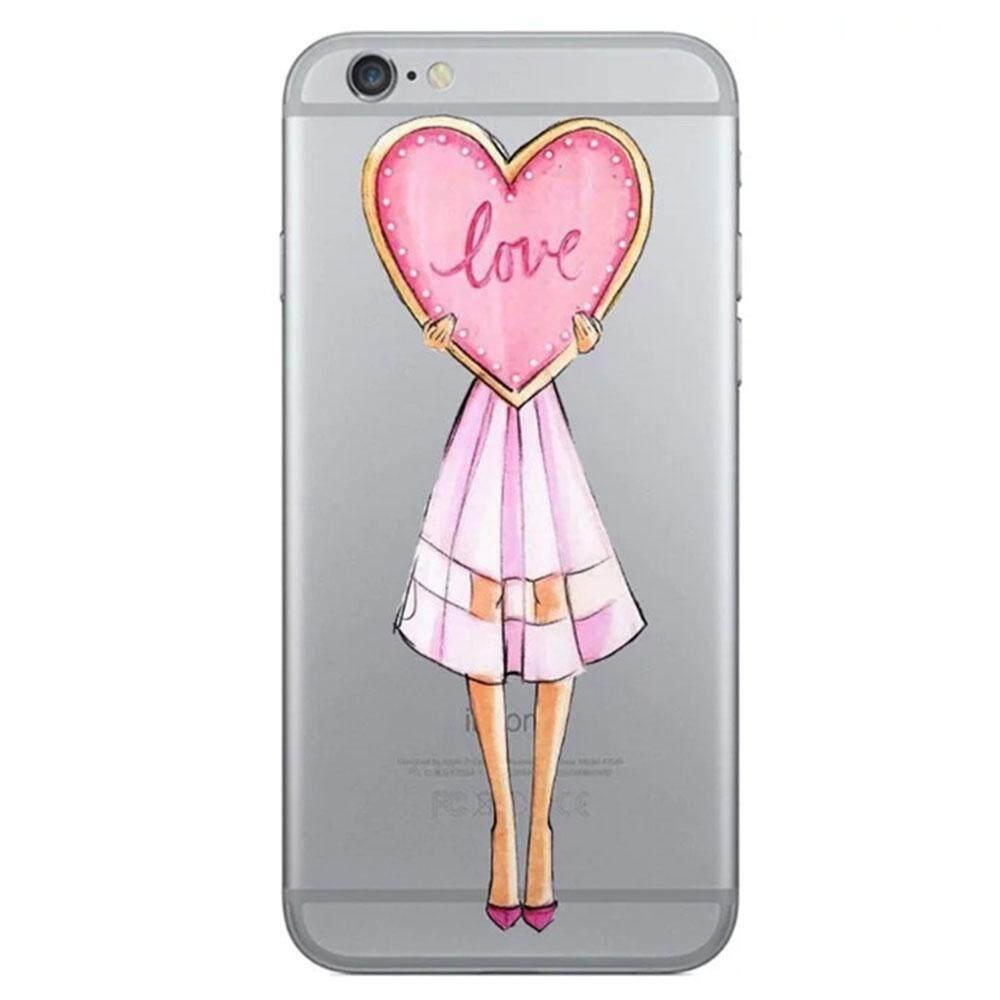 Langsung Menghukum Mati Teekar®Dicetak Phone Cover Fashion Anak Perempuan Berwarna TPU Case untuk Iphone5/5 S/5SE/6/6 s/6 Plus/6 S Plus/7/7 Plus-Intl