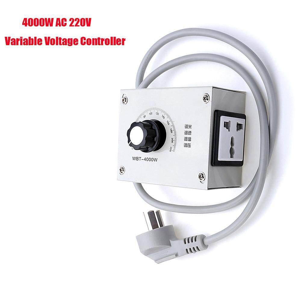 AC 220 V 4000 Wát Cao Cấp 1 Pha Biến Điện Điều Chỉnh Điện Áp Đèn Mờ Nhiệt Độ Bộ Điều Khiển Tốc Độ Động Cơ cho Ánh Sáng quạt (Trung Quốc Loại I Cắm)