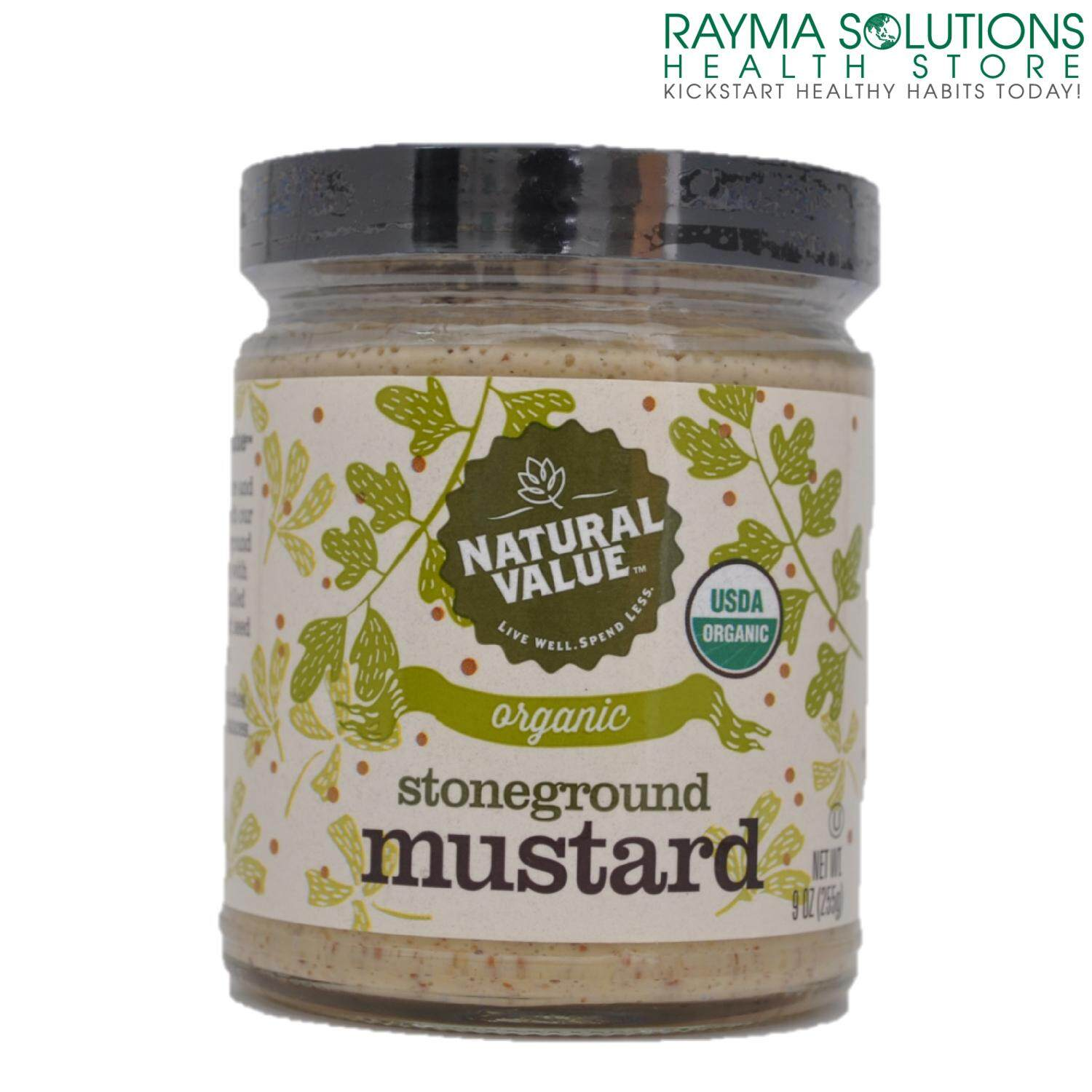 NATURAL VALUE Organic Stoneground Mustard 255g