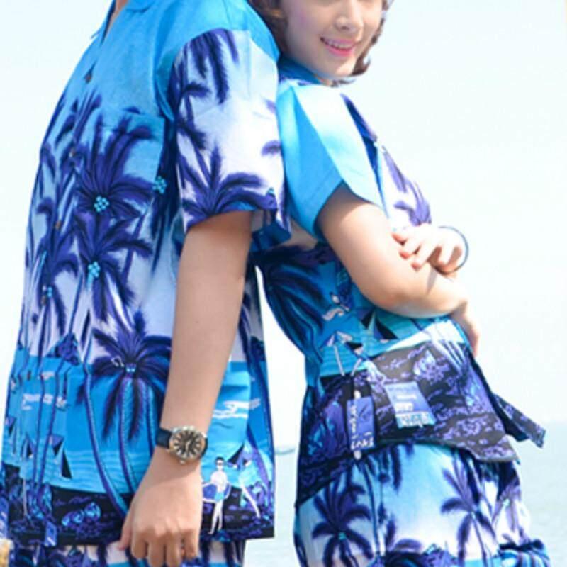 Hainan Sanya Pulau Pakaian Pendek Lengan Ukuran Besar Baju Batik Pecinta Pantai Santai Kapas Katun Murni dan Kemeja Hawaii Hanya untuk Pria-Intl