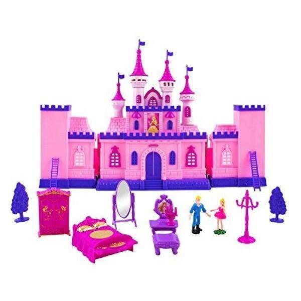 Mainan Castle My Pernikahan Impian Puteri Mainan Doll Playset W/Tokoh Pangeran dan Putri Kereta Kuda, castle Permainan Rumah, Furniture, Aksesoris, Anak Rumah Boneka-Internasional
