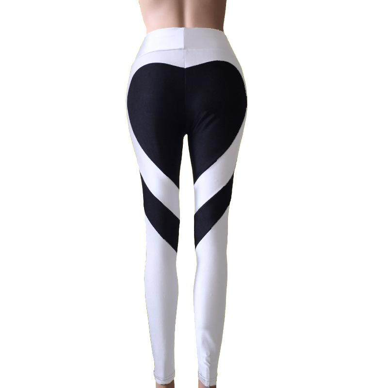 2018 New Fashion Sexy Women Special Design Love Heart Shape Yoga Leggings Heart Booty Pants Running