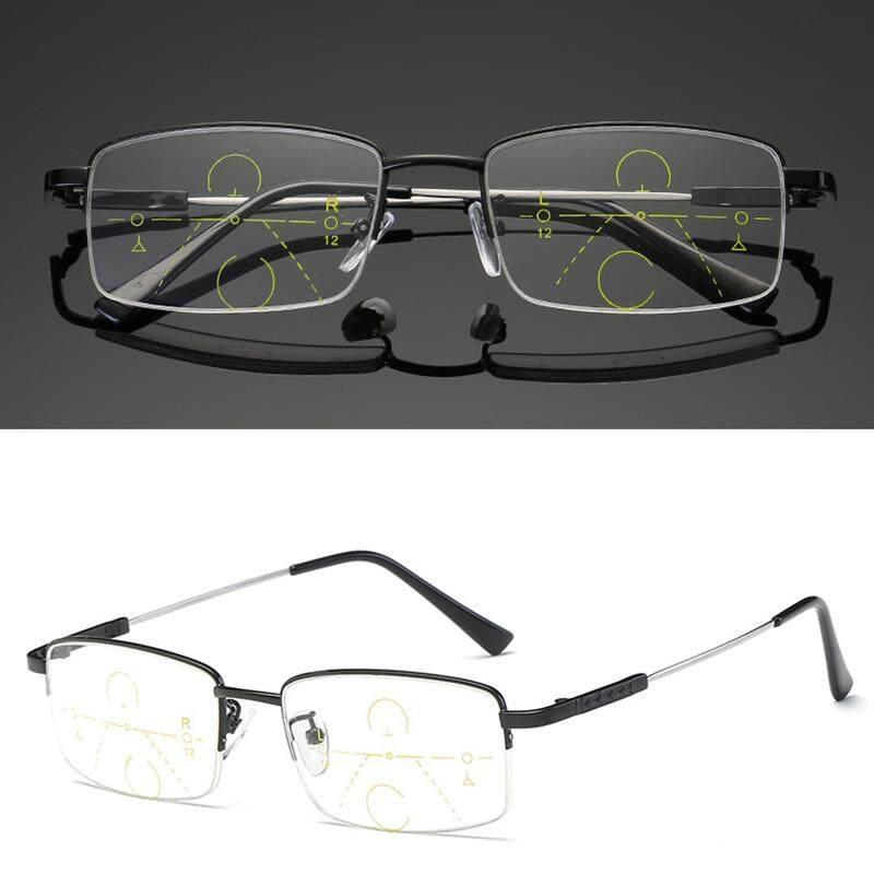 YBC Presbiopia Kacamata Baca Progresif Multifokal Lensa Anti Kelelahan Kacamata (200 °)-Internasional