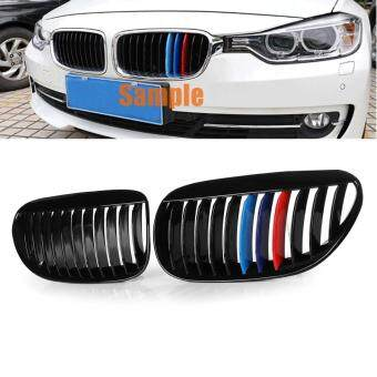 Front Gloss Black M-Color Grille Grill For BMW 6 Series E63 E64 2DR 2004-2010 - intl