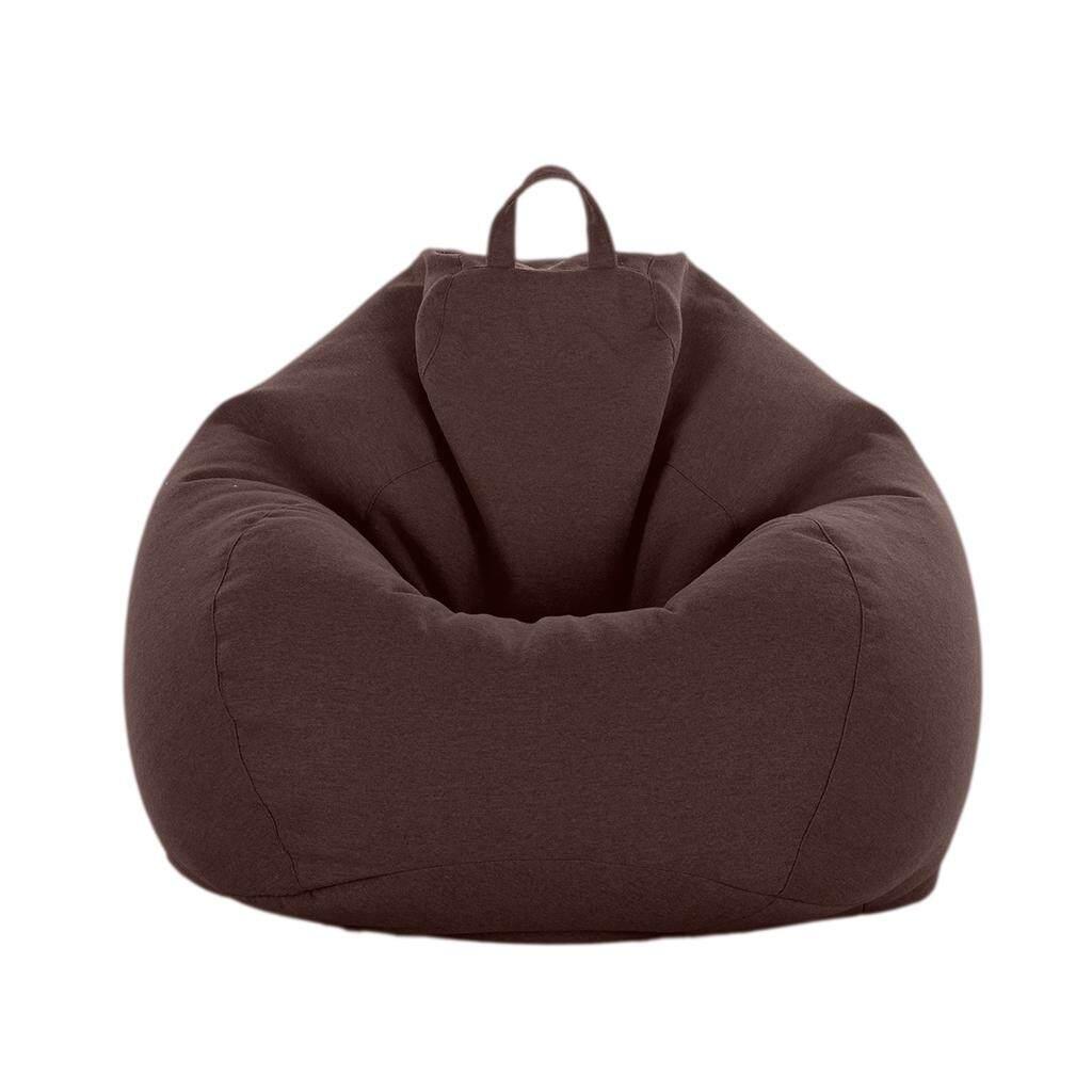 Linen Warna Solid Bean Bag Cover Sarung Sofa ff78190f01
