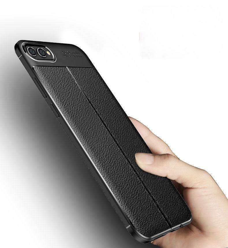 Untuk Oppo A3s Lengkeng Kulit Pelindung Silikon Lembut Case Shockpproor Sampul Belakang