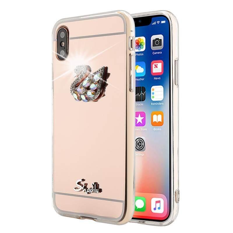 Sempurna untuk OPPO R15 Case Bling Intan Permata Tiruan Ponsel Casing Belakang Casing TPU dengan Cermin