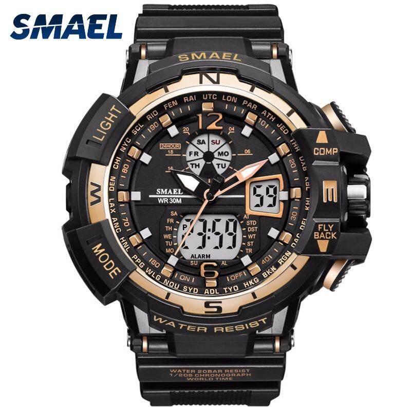 Men's Fashion Digital Watches LED Sport Watch Analog Quartz Casual Military Waterproof Wrist Watch - intl