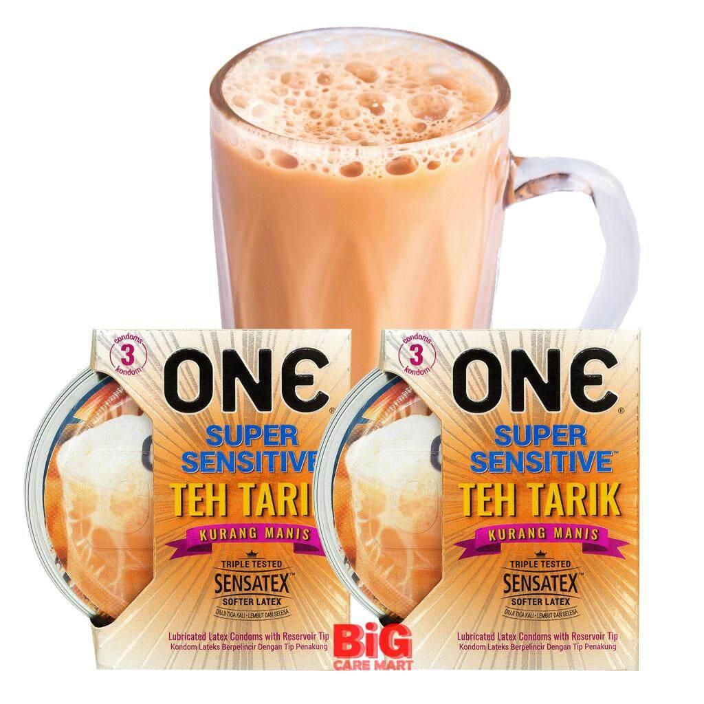 ONE Super Sensitive Teh Tarik Condoms 3pc X 2 set