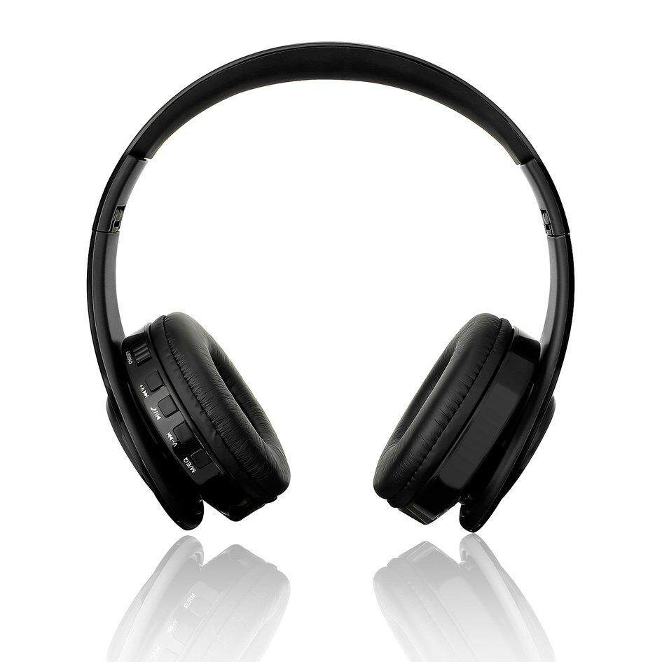 Lifef Lipat Nirkabel Bluetooth Headset Stereo Ikat Kepala Olahraga Earphone MP3 Pemain