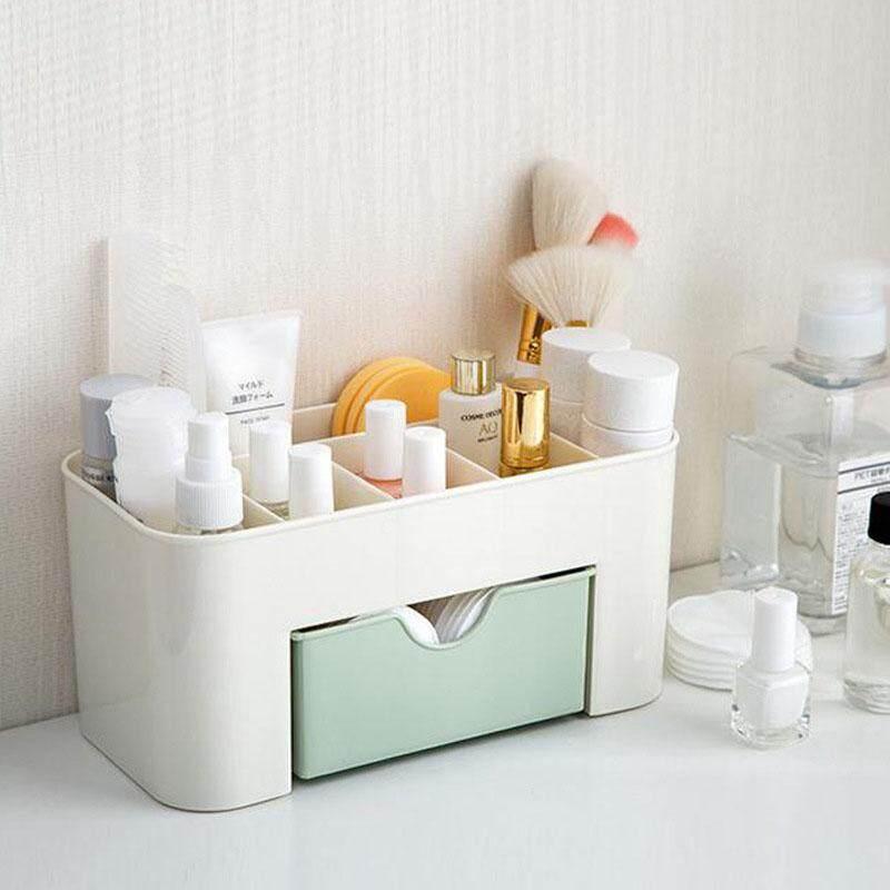Multifungsi Penata Rias Plastik Kotak Penyimpanan Anting-Anting Kotak Perhiasan Kalung dengan Laci dan Beberapa