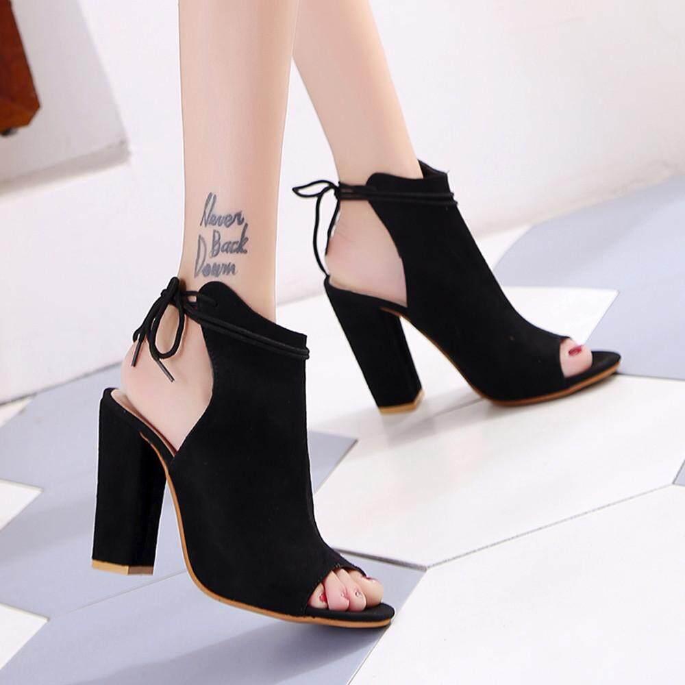 MONIMENT Women s Shoes Platform Ladies Sandals Ankle Strap Peep Toe High Heel  Shoes 7c50ca2edd0b