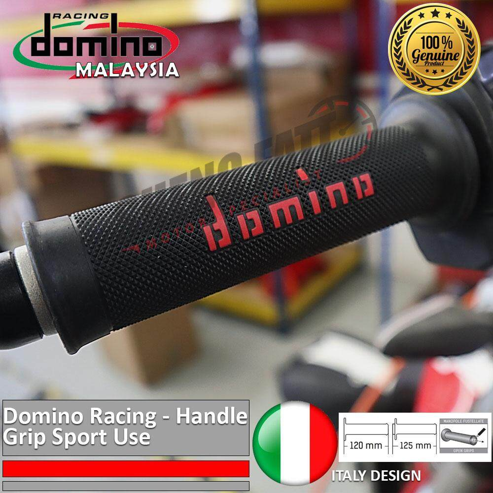 "Domino Universal Handle Bar 7/8"" Motorcycle Racing Throttle Grips MotoGP handlebar Red [ORIGINAL]"