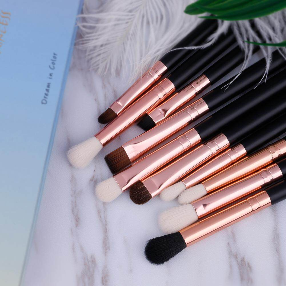 ... Docolor 10pcs EyeShaow Brush Set Eyebrow Blending Makeup Brushes Rose Gold Eye Shadow Make Up Brushes ...