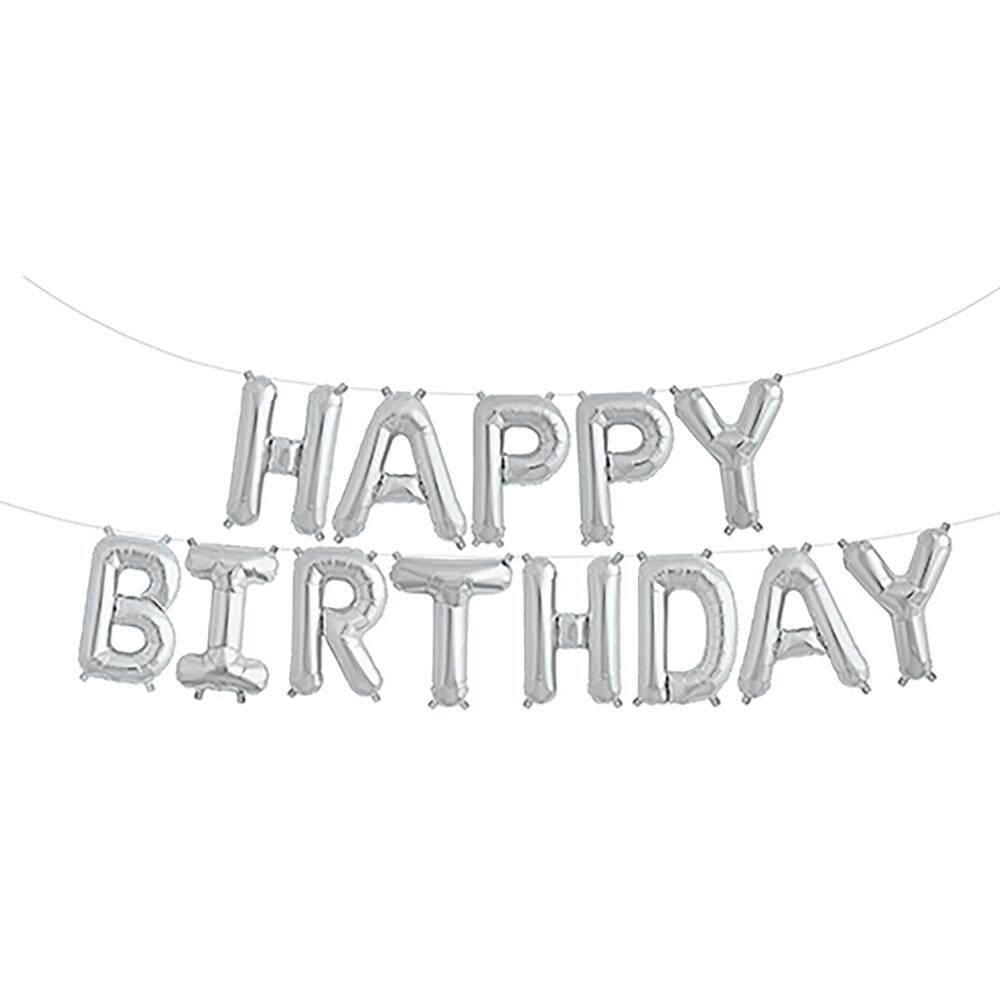 Pompa Mandiri Balon Selamat Ulang Tahun Balon Emas Yang Indah Perak Foil Dewasa Acara