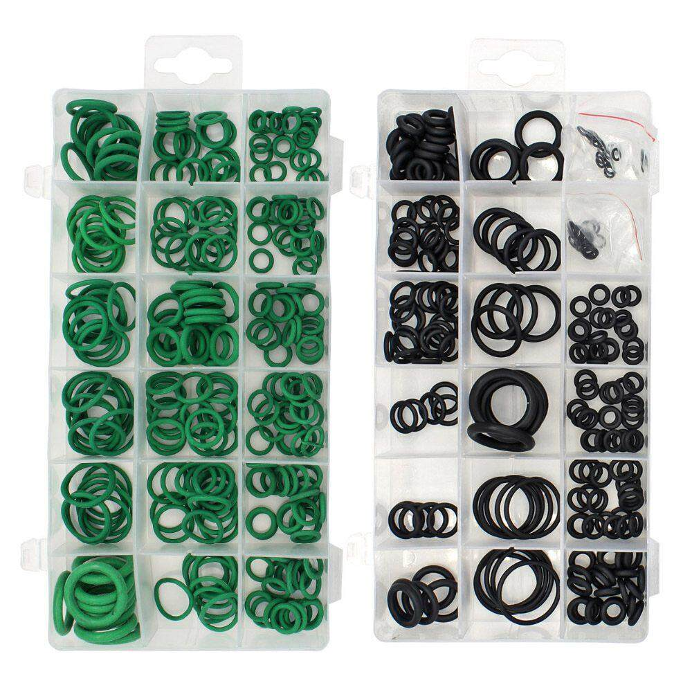 495PCS 36 Sizes O-ring Kit Black&Green Metric O ring Seals Rubber O ring Gaskets oil resistance 270pcs + 225pcs - intl
