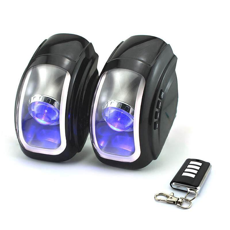 WULI volume control Motorcycle Waterproof Speakers 3 Color Light FM Radio Motorcycle Moto Anti-Theft Alarm Audio 12V ATV MP3 Speaker Audio