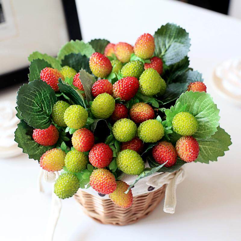 5 Pcs/lot Buatan Raspberry Tinggi Simulasi Buatan Mulberry Buah- Internasional - 2 .
