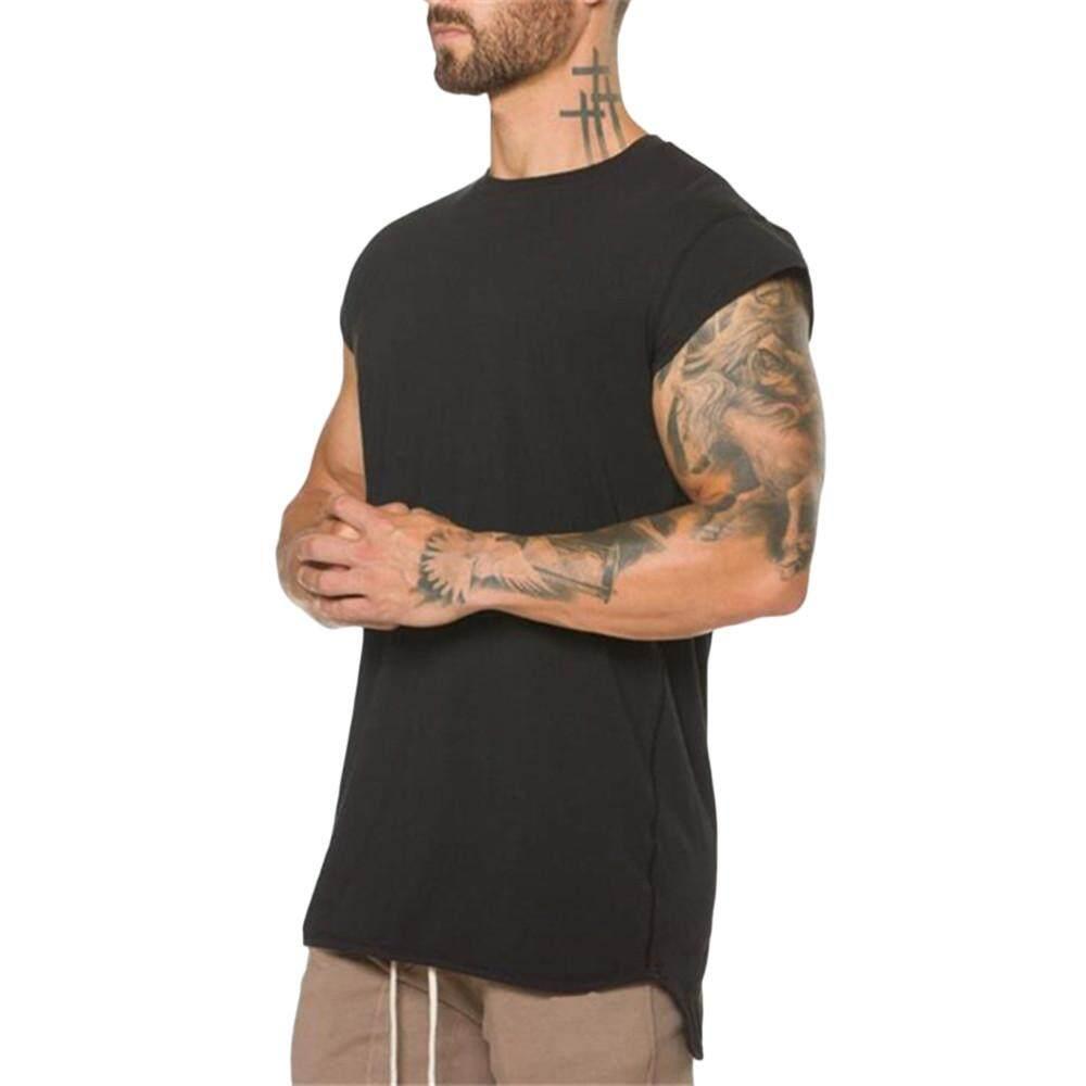 d32b04af3a9c Akali Men's Gyms Crossfit Bodybuilding Fitness Muscle Short Sleeve T-shirt  Top Blouse